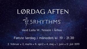 Kom og dans 5Rhythms med os den første lørdag i måneden kl 19- 21.30 2.februar 2. marts 6. april 4. maj 1. juni 6. juli